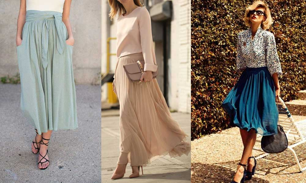 083e89fd8a88 How to Wear Midi Skirts – 20 Hottest Summer /Fall Midi Skirt Outfit Ideas
