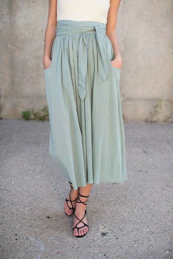 How To Wear Midi Skirts - 20 Hottest Summer /Fall Midi Skirt Outfit Ideas - Her Style Code