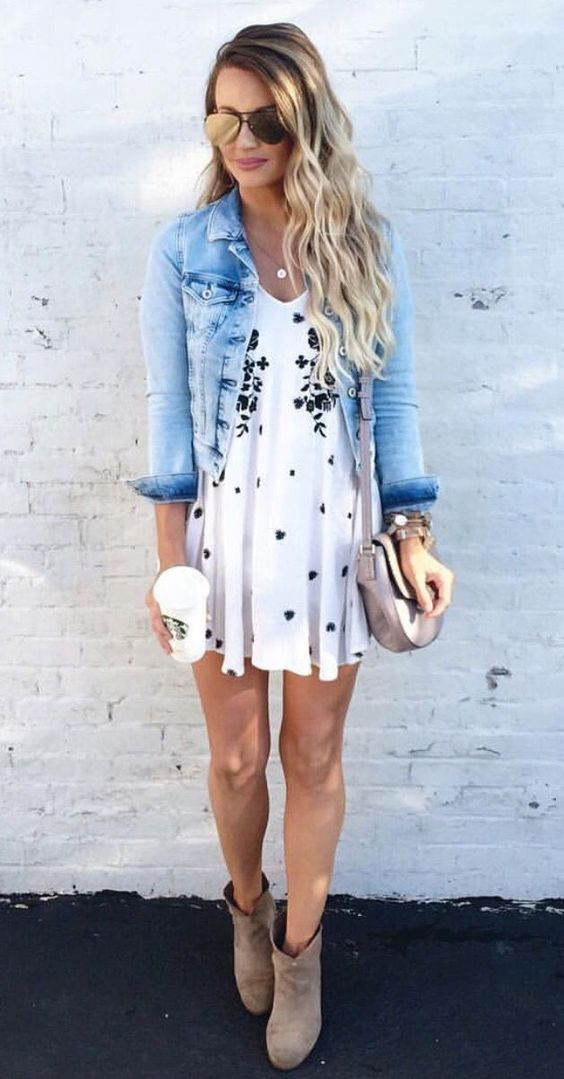 15 Cute Summer To Fall Outfits With Dresses recommendations