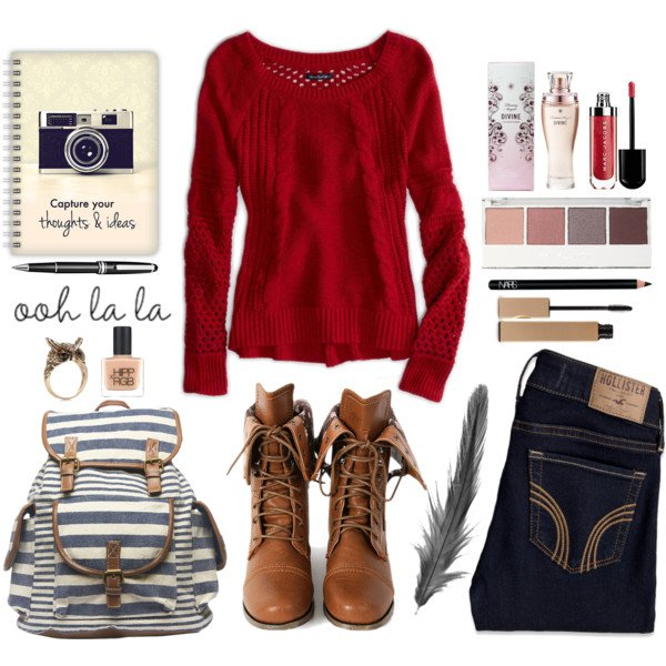 marvelous red school outfit state