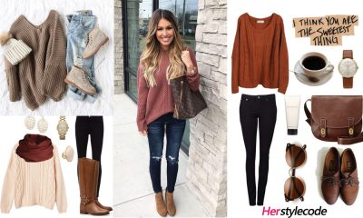 25b02693fc8 40 Chic Sweater Outfit Ideas For Fall Winter – Outfits with Sweater