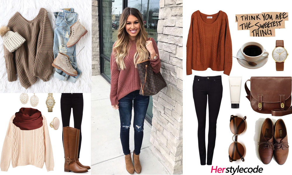 40 Chic Sweater Outfit Ideas For Fall/Winter 2018   Outfits with