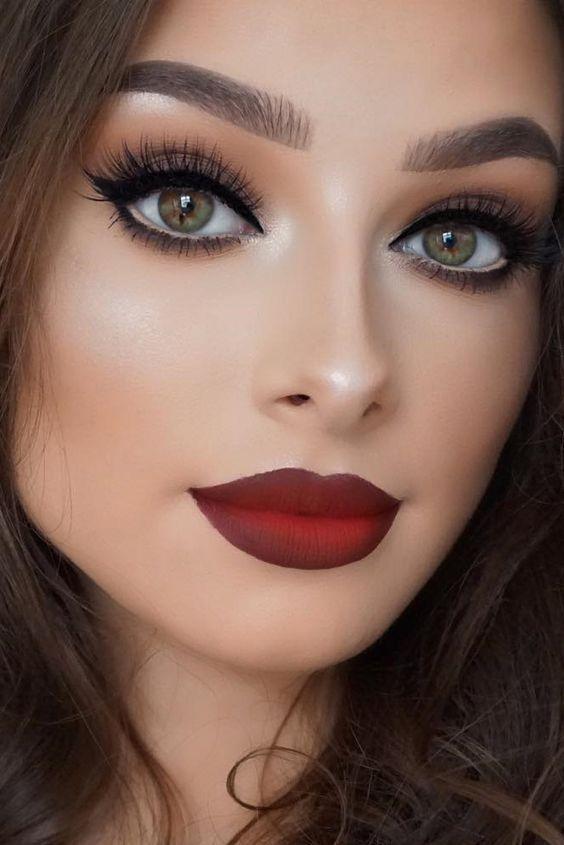 Red Lip Eye Makeup Look Makeup Tutorial Trick Download