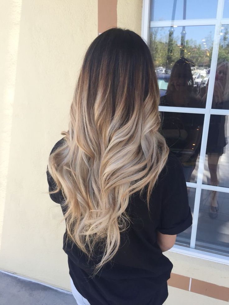 Blonde Ombre Short Straight Hair
