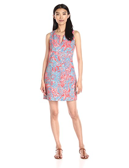 Lilly Pulitzer Women's Estrada Sheath Dress, NM Pink Sun Ray Summer Siren, Large