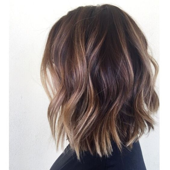 Tortoise shell wavy bob Like this cut, maybe this color but slightly lighter or more highlight