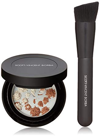Scott-Vincent Borba Anti-Fatigue Skin Care/SPF 29 Foundation Anti-Wrinkle Kit with Foundation/Micro-Exfoliation Tool, 02 Medium