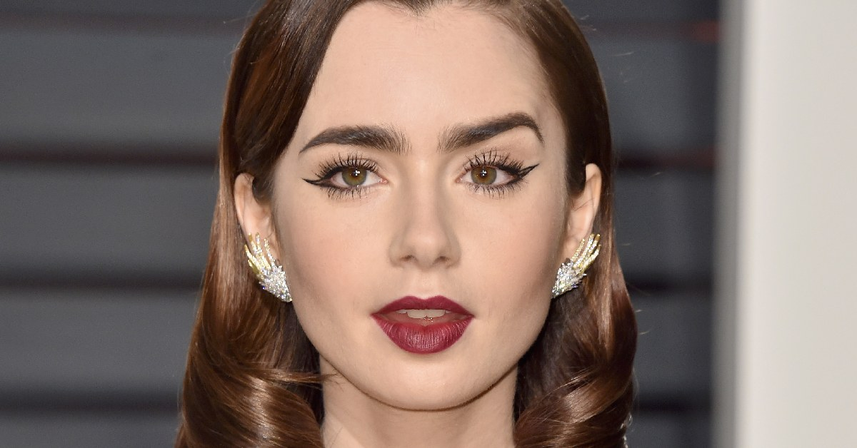 Lily Collins Wears Negative Space Eyeliner