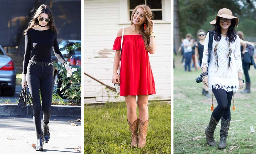 f115c353e3c7 7 On-Trend Ways to Wear Cowboy Boots - Her Style Code