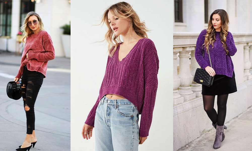 abffbe967 How to Wear a Chenille Sweater - Her Style Code