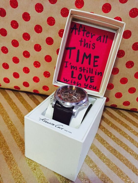 """""""After all this TIME I'm still in love with you."""" Cute saying to go along with a gift for your boyfriend or husband."""