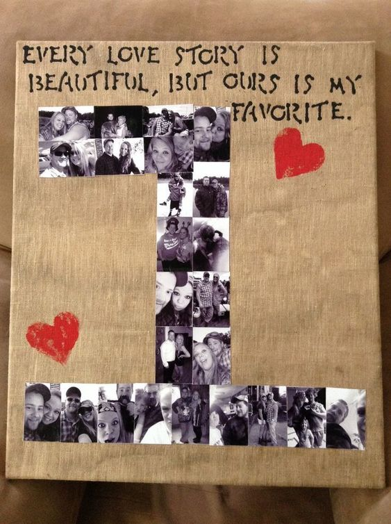 Number Photo Collage | Easy DIY Anniversary Gift Ideas for Him | Handmade Valentines Day Gifts for Him