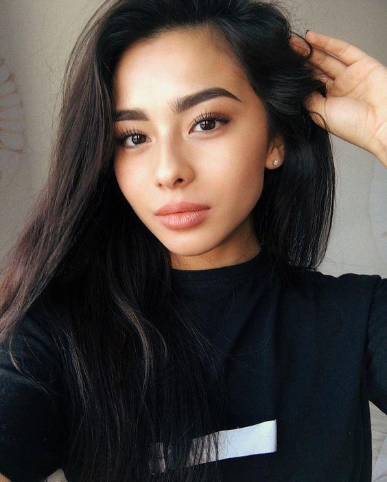 beautiful asian girl subtle classic natural makeup look