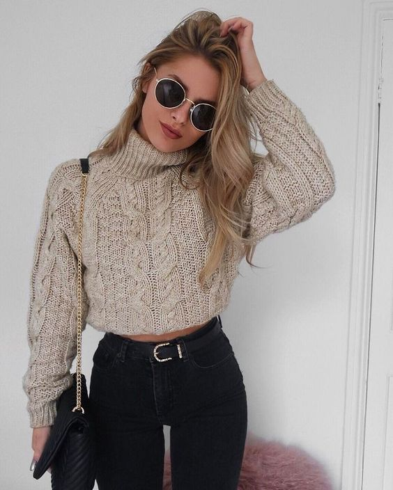 cropped sweater + high waisted @dcbarroso