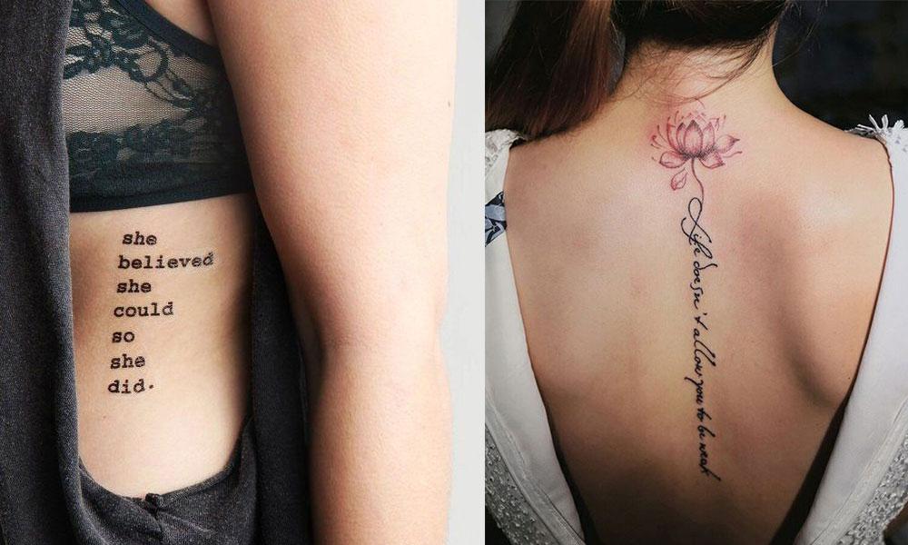 Script Tattoo women