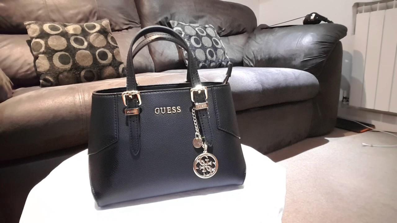 Guess Black Handbag Review - YouTube