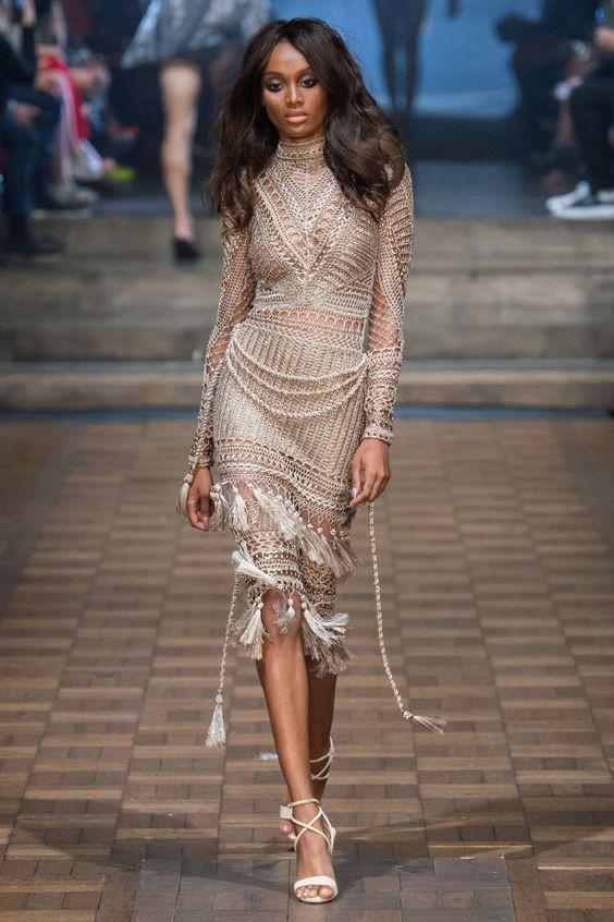 Crochet dress Julien Macdonald Spring 2020 Ready-to-Wear