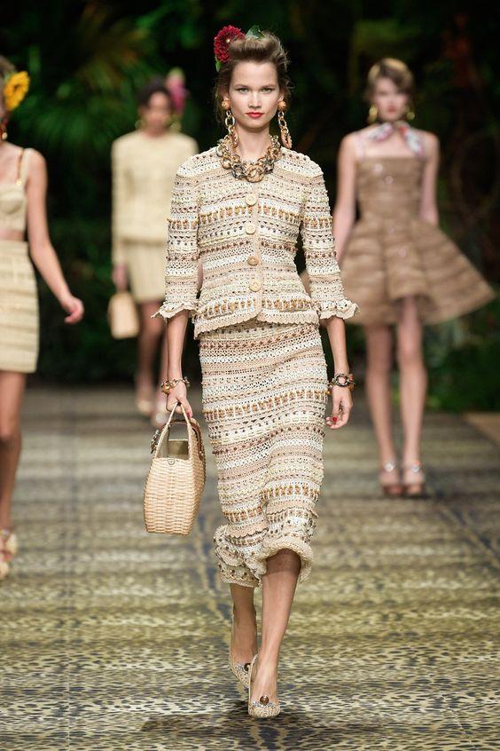 Treble crochet skirt suit Dolce - Gabbana Spring 2020