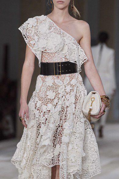 White round pattern summer dress Alexander McQueen Spring 2020 Ready-to-Wear