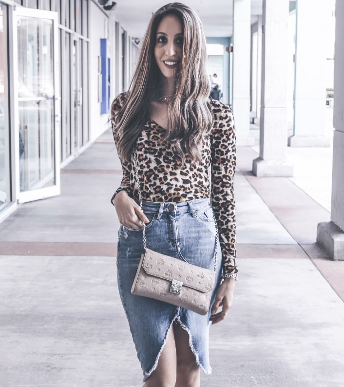 80s-Leopard-Shirt-and-Jean-Skirt