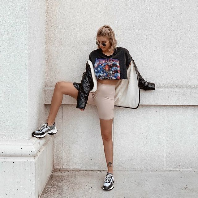 8 out of the box and trendy ways to sport biker shorts 5fc764f624949 8 Out of the Box and Trendy Ways to Sport Biker Shorts