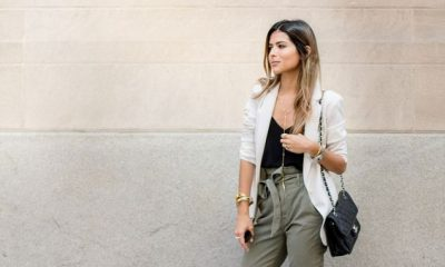 20 Style Tips On How To Wear Paper Bag Waist Pants - Gurl.com | Pants outfit  work, Blazer outfits, Business casual outfits