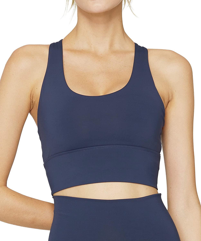 Sports Bras for Women Medium Impact Longline Yoga Workout Bra- Running Gym Activewear