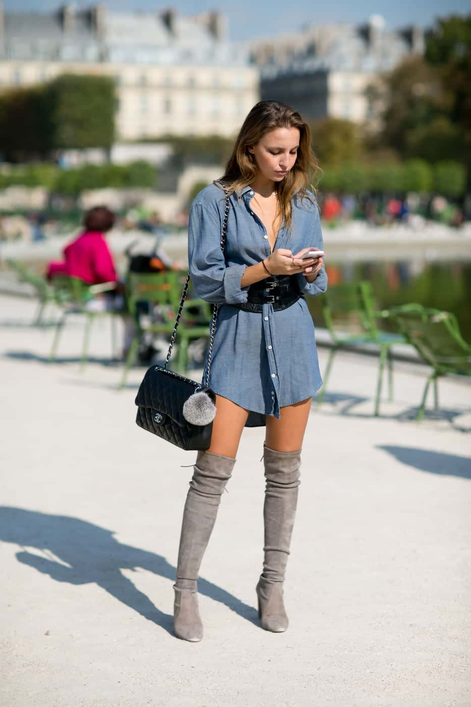 Spring outfit ideas Thigh high boots shirt dresses How-to and What to Wear with Thigh High Boots