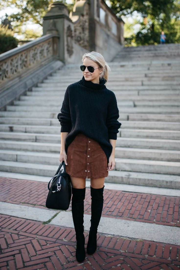 Thigh high boots chunky sweaters outfit How-to and What to Wear with Thigh High Boots