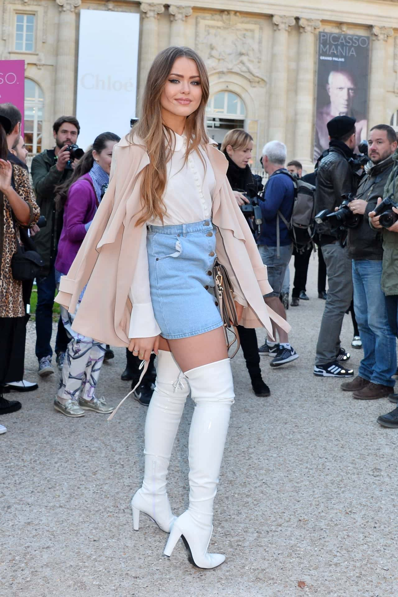 Thigh high boots in white suede for summer winter How-to and What to Wear with Thigh High Boots