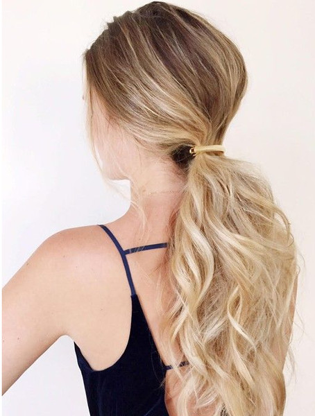 Clipped Low Ponytail