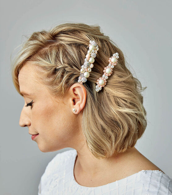 Pearl Barrettes and Pearl Hair Comb