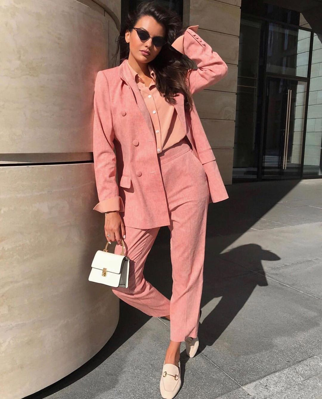 pink The Satin and Velvet Suit