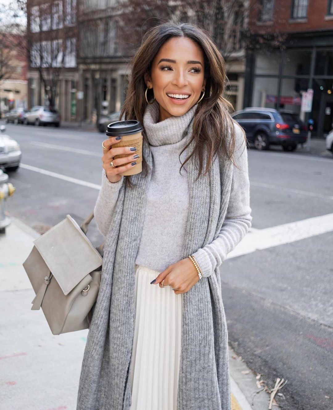 gray Chunky Knit Sweaters