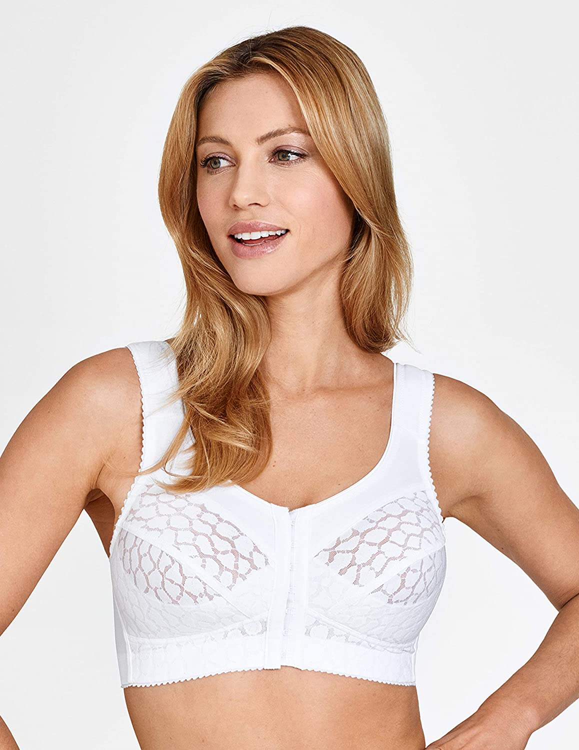 Miss Mary of Sweden - Lovely Jacquard Women's Front-Closure Non-Wired Bra