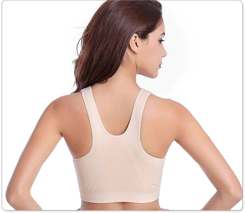 Wanayou - Women's Zip-Front Sports Bra Wireless Post-Surgery Bra